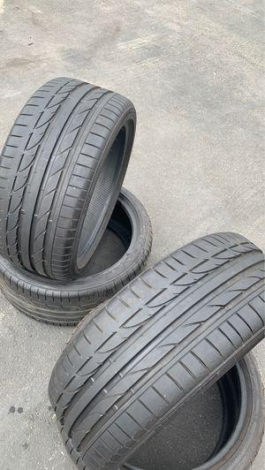 225/40/19 and 255/35/19 Bridgestone potenza tires new take off potenza 2019 tires for Sale in Corona, CA