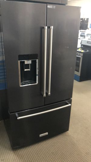 Kitchen aid black stainless 3 door for Sale in Houston, TX