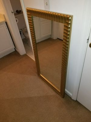 Gold framed 30x50 mirror for Sale in Cuba, MO