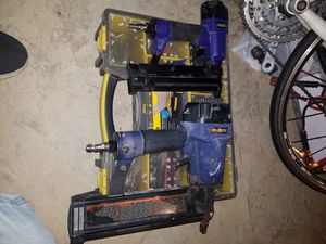 Nail gun and tool box. for Sale in Fairfax, VA