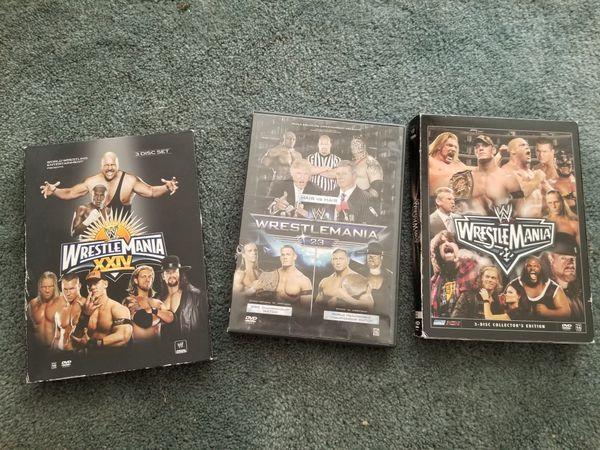 Wrestlemania DVDs