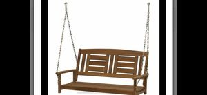 NEW- Sunnydaze Deluxe 2-Person Wooden Patio Swing for Outdoor Porch, Backyard or Deck --RETAIL $253. Asking $150.00 obo for Sale in Covina, CA