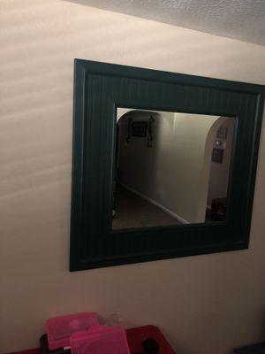 Mirror - Dark Green Frame Excellent Condition for Sale in Laveen Village, AZ