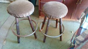 Two swivel wood/upholstered bar stools for Sale in San Jose, CA
