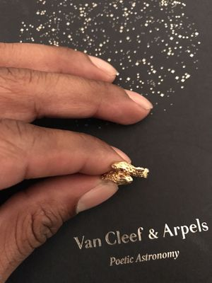 18k Solid Gold Serpent Ring for Sale in New York, NY
