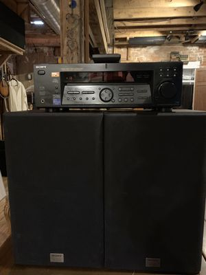 Sony fully set up stereo system with bluetooth receiver for Sale in Denver, CO