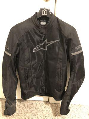 alpinestars textile black motorcycle jacket for Sale in Fresno, CA
