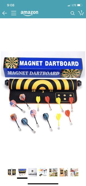 Magnetic Dart Board for Kids and Adults 12pcs Safety Magnetic Darts Flights Funny Party Bar Game Set Toy Gifts Game Room Office Indoor or Outdoor Boa for Sale in Temple City, CA