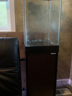 Full Aquarium Setup! 15 Gallon Tank + Stand + Heater + Filter + Extras Available!! for Sale in Algona,  WA
