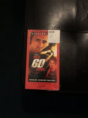 Gone in 60 Seconds VHS vintage movie for Sale in Los Angeles, CA