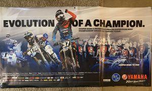 Yamaha Dirt Bike Motorcycle Vinyl Poster (Cooper Webb) for Sale in Cedar Park, TX