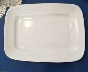 Iron stone rectangular platter made in England vintage 15 and a 1/2 inches long for Sale in Bangor, ME