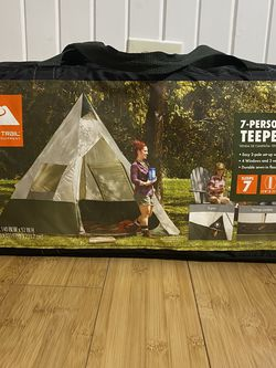 New In Package Ozark Trail 7 Person Teepee Camping Or Backyard Tent for Sale in Gurnee,  IL