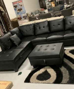 🍻$39 Down Payment 💥  SPECIAL] Pablo Black Sectional | U5400 for Sale in Jessup, MD