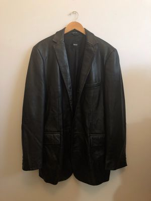 Men's Hugo Boss Leather Jacket for Sale in West Palm Beach, FL