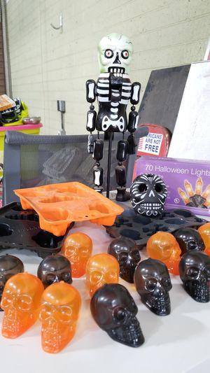gothic jello molds ice cube tray skully nutcracker 2010 lights and skull ice cube for Sale in Phoenix, AZ