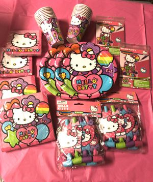 Hello Kitty Party Supplies 12 items total New for Sale in Boynton Beach, FL