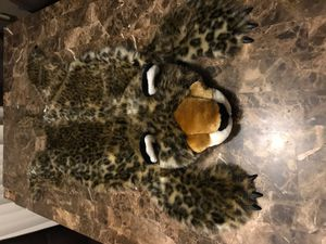 Soft adorable Plush Toy Jaguar Rug Faux Fake Pelt Cheetah Leopard Stuffed Animal Throw 48x36. Condition is Used. From smoke and pet free home. Thanks for Sale in West Dundee, IL