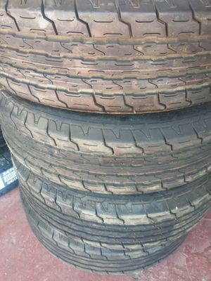 Set 4 Tires ST225 75 R15. 99% tread like New for Sale in Hesperia, CA