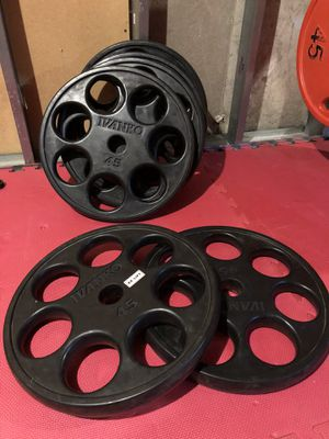 6 x 45lbs Ivanko Olympic weights plates in excellent condition for Sale in Ballwin, MO