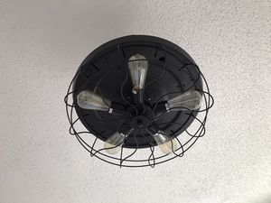 Industrial style fan light for Sale in Weston, FL