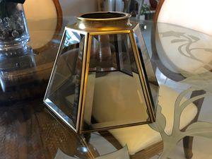 Beveled Glass Brass Ceiling Fan Light Fixture for Sale in Miami, FL