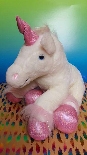 White/Pink Unicorn 15 Inch Plush Toy for Sale in Santa Ana, CA