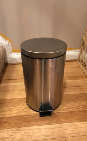Stainless steel bathroom trash can. for Sale in Alexandria, VA