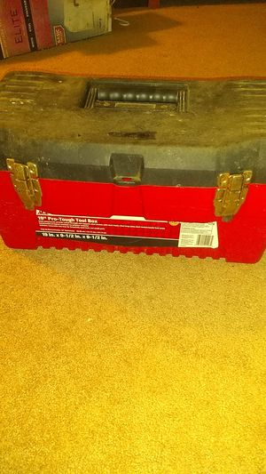 Red and black toolbox for Sale in Winchester, MA