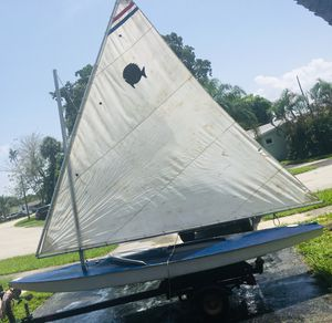 Sunfish sailboat. Includes trailer. Ready to sail for Sale in Fort Lauderdale, FL