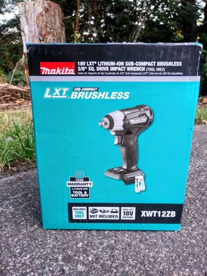 "Makita 18 Volt LXT Brushless Sub Compact 3/8"" Impact Wrench (TOOL ONLY) for Sale in Tacoma, WA"