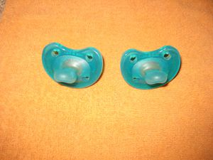 Chico NaturalFit Soft Silicone Age 0 -6 months Orthodontic Pacifier (2 pack) in Blue for Sale in Traverse City, MI