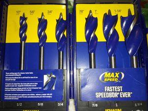 Irwin max speed heavy machine drill bit for Sale in Saint Joseph, MO
