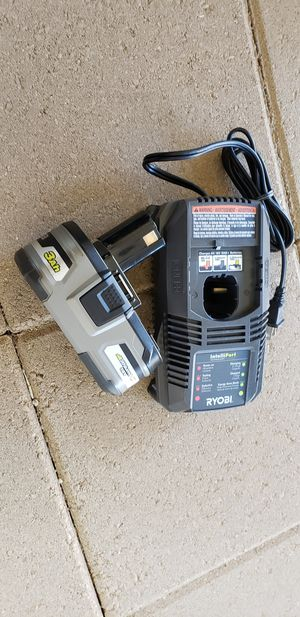 Ryobi 3ah battery & charger for Sale in Pomona, CA