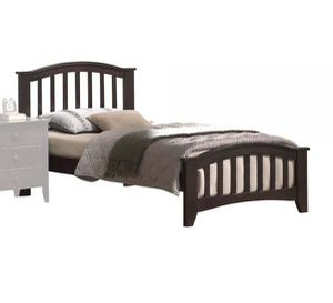 Twin Bed - 04980T - Dark Walnut 5SAB for Sale in Ontario, CA