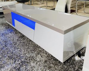 New white grey glossy tv stand for Sale in Lake Worth, FL