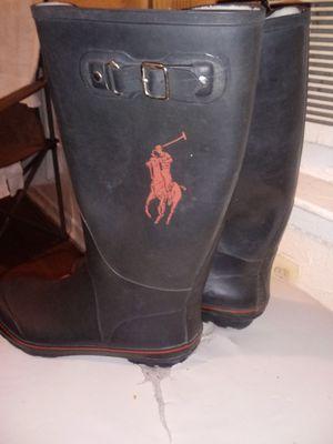 Size 10 POLO RUBBER BOOTS for Sale in Dallas, TX