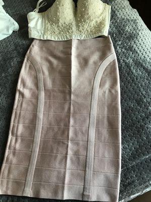 Women Bebe light pink long pencil skirt large for Sale in La Habra Heights, CA