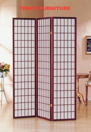3 Panel Room Divider, Cherry, #7034CH for Sale in Santa Fe Springs, CA