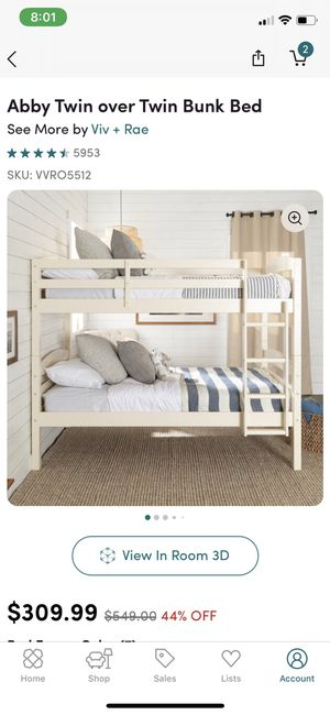 Off white bunk bed for Sale in The Bronx, NY