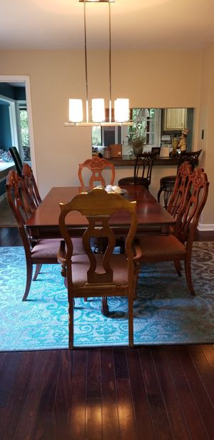 HAPPY NEW YEAR'S Cherry Dining table / 6 chairs, 2 arm chairs and 4 side chairs for Sale in Kennesaw, GA
