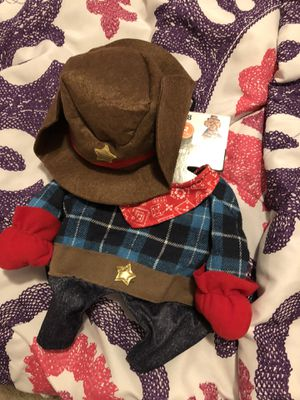 New cowboy dog costume $5 Medium size for Sale in Clarksville, TN