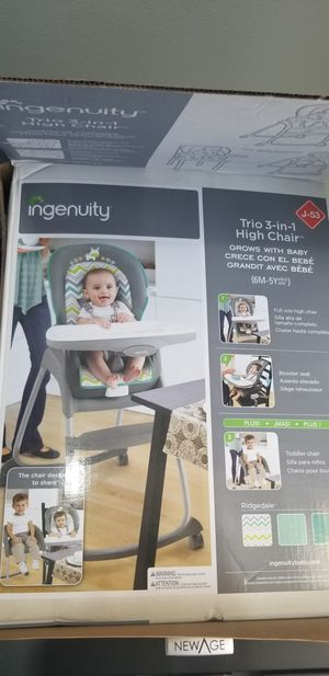 Ingenuity Trio 3-in-1 High Chair, Toddler Chair, and Booster for Sale in Orange, CA