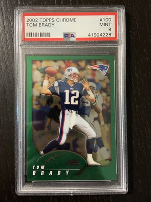 2002 topps chrome tom brady #100 psa 9 mint goat hof for Sale in La Mesa, CA