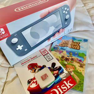 Nintendo Switch Lite + Game + SD for Sale in Clovis, CA