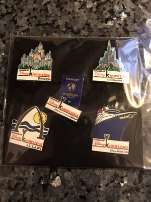 Disney College of Knowledge rare Pins 5 for Sale in Littleton, CO