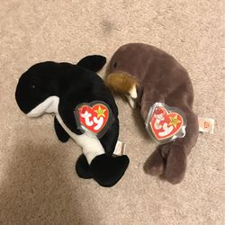 Orca And Walrus Ty Beanie Babies for Sale in Battle Ground,  WA