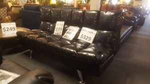 Brand new black leather sofa futon for Sale in San Diego, CA