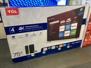 """TCL 75"""" 4K UHD HDR Roku Smart Tv 📺 for Sale in Fontana, CA"""