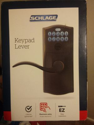 "Schlage"" keypad level door lock brand new still in box!!! Retail for $120 asking $60 plus shipping for Sale in Endicott, NY"